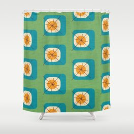 Flower Eggs Green Shower Curtain