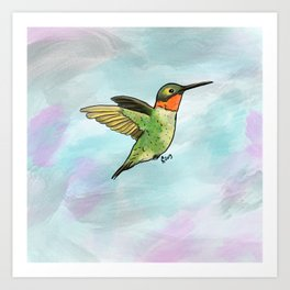 Humming Along Art Print