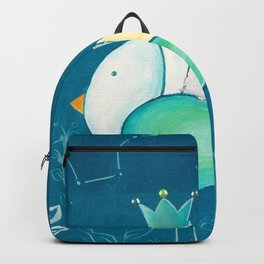 Little prince with a green crown Backpack