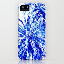 Blue Palm Trees beach california beach design aquatic beach blue design beach house iPhone Case