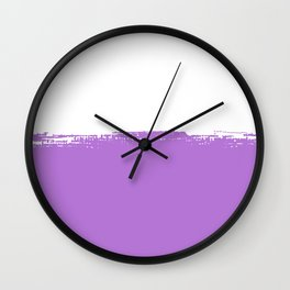 Dipped in Lilac Wall Clock