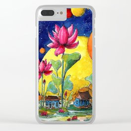Floating houses Clear iPhone Case