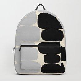 Abstraction_Balance_ROCKS_BLACK_WHITE_Minimalism_001 Backpack