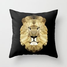 Polygon Heroes - The King Throw Pillow