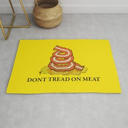 Don't Tread On MEAT Gadsen Flag Rug