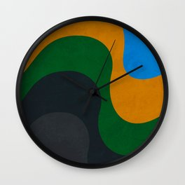 Copacabana - From concrete to the sea Wall Clock