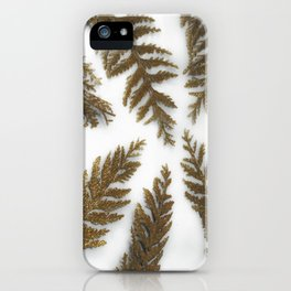 Golden Palm on White iPhone Case