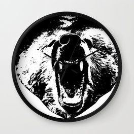 Bear Face Wall Clock