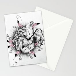 Little Fox Pink Version Stationery Cards