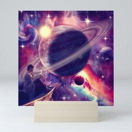 Saturn View Mini Art Print