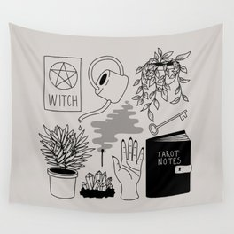 Witchy Treasures Wall Tapestry