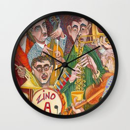 All That Jazz  - New Orleans Jazz Band Wall Clock