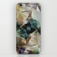 garfield iPhone & iPod Skins featuring Abstract Grunge Triangles by Phil Perkins