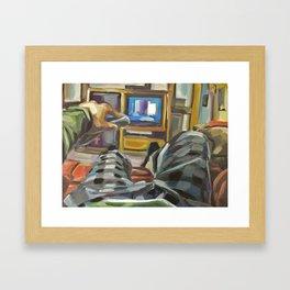 Complacency, Television Framed Art Print