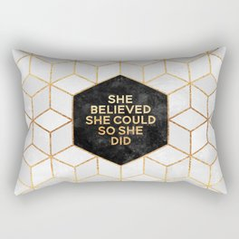 She believed she could so she did 2 Rectangular Pillow