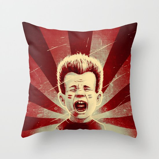 Red Noise Throw Pillow