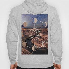 Mandala Southwest Desert Sun and Moon Phases Hoody