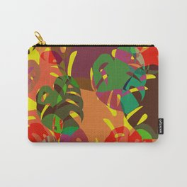 multicolored monstera Carry-All Pouch