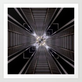 Reflected Stairs Art Print