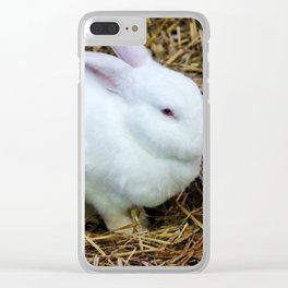 White Bunny Clear iPhone Case
