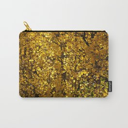 Inside a Golden Aspen Forest Carry-All Pouch