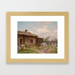 HJALMAR MUNSTERHJELM, VIEW FROM A COURTYARD. Framed Art Print