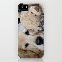 Golden Retriever with Best Friend iPhone Case