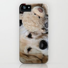 Golden Retriever with Best Friend iPhone Case