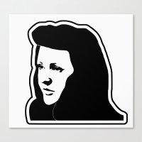 ellie goulding Canvas Prints featuring Ellie Goulding Stencil by NicoStuart