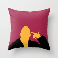 taxi driver Throw Pillows featuring Taxi Driver by FilmsQuiz