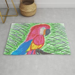 Pink Bird of Paradise Rug