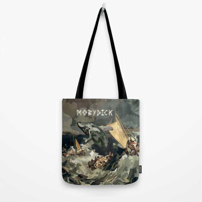 Fisherman Vs Whale Moby dick Digital art painting iPhone 4 4s 5 5c 6, pillow case, mugs and tshirt Tote Bag
