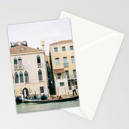 Gondola in the canals of Venice, Italy | Pastel colorful travel photography in Europe Stationery Cards