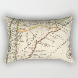 Vintage Map of Chile and Argentina (1732) Rectangular Pillow