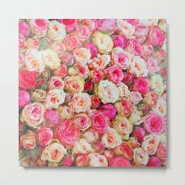 Roses:  I love you this much! Metal Print