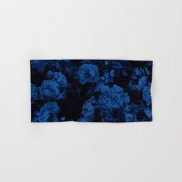 winter flowers seamless pattern 01 big dark blue Hand & Bath Towel