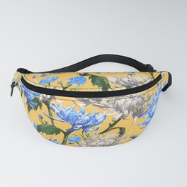 Mums Pattern  |  Yellow-Blue-Cream-White Fanny Pack