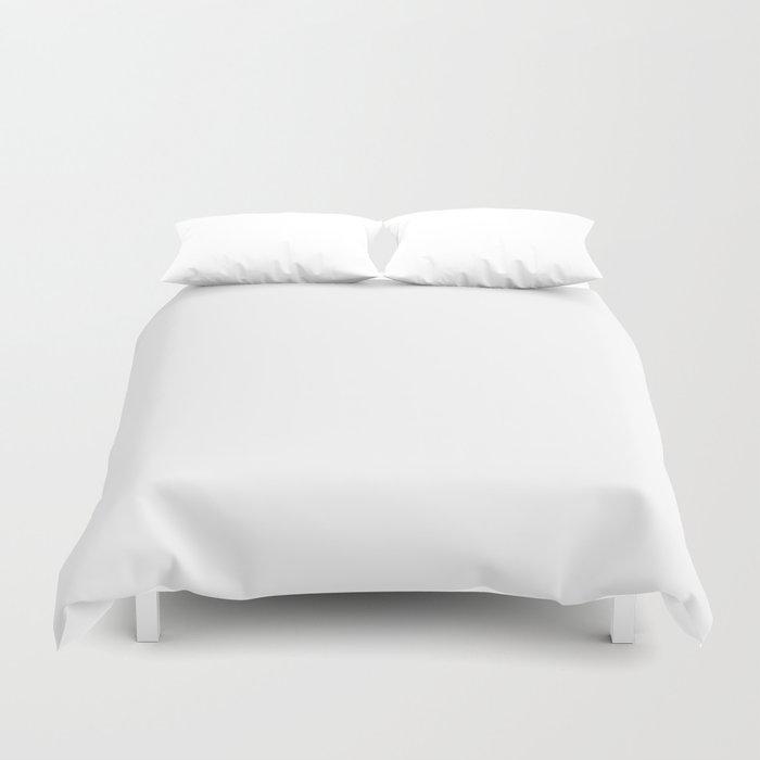 Stark White Solid Color Duvet Cover