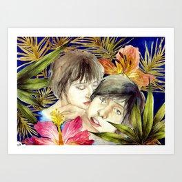 Boys in The Tropical Mood  Art Print