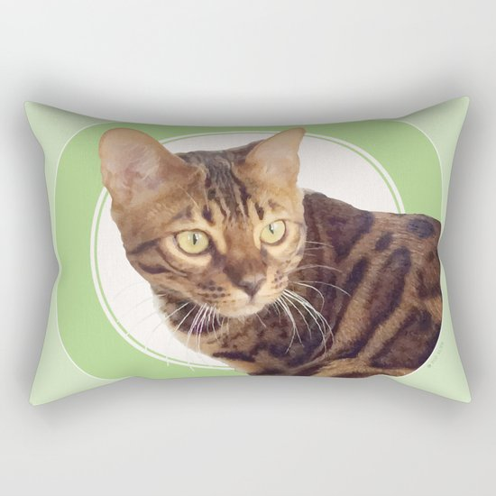 Boris the cat - Boris le chat Rectangular Pillow