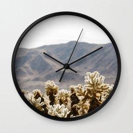 Cholla Cactus Garden Wall Clock