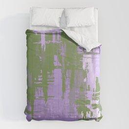 Genderqueer Pride Rough Crosshatched Paint Strokes Comforters