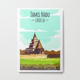 Temple Tamil Nadu India Metal Print