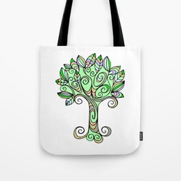Tree of Life Whimsical Illustration Tote Bag