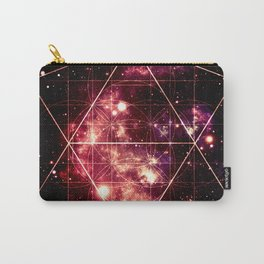 Burgundy Magenta Galaxy Sacred Geometry : Golden Rectangles Carry-All Pouch
