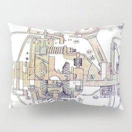 Mechanical Diagram Pillow Sham