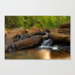 Boulder Falls - Appalachian Mountain Area - West Virginia Canvas Print