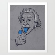 Blue Tongue Art Print