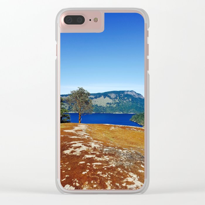 Lone Arbutus, Mid Afternoon Stoney Hill Clear iPhone Case
