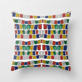A little prayer in colors Throw Pillow